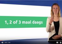 Medicijnuitleg in gebarentaal