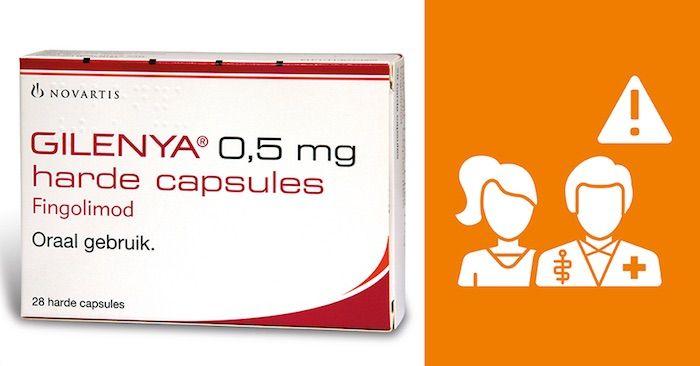 Gilenya fingolimod 0.5 mg capsules