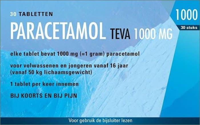 Paracetamol 1000 mg OTC TEVA