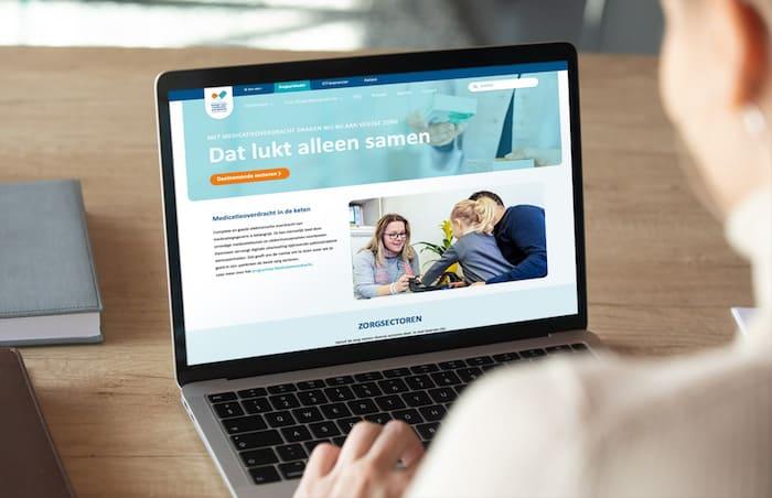 Website Samen voor medicatieoverdracht.nl