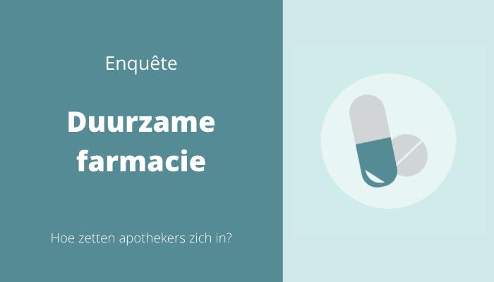 enquête duurzame farmacie